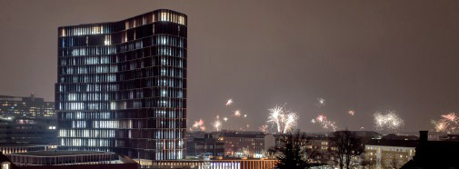 The Maersk Tower, New Year's Eve